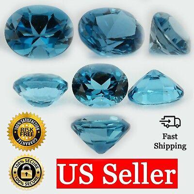 Loose Oval Cut Genuine Blue Zircon Topaz Stone Single December Birthstone Shape (Blue Zircon Oval Gem)