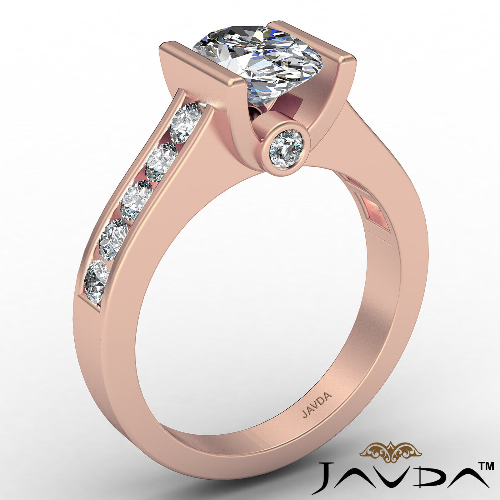 Oval Diamond Engagement Bezel Setting Ring GIA, E Color & SI2 clarity 1.4 ctw. 5