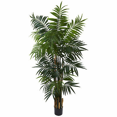 Man-made 6 ft Bulb Areca Palm Flower Floral Tree
