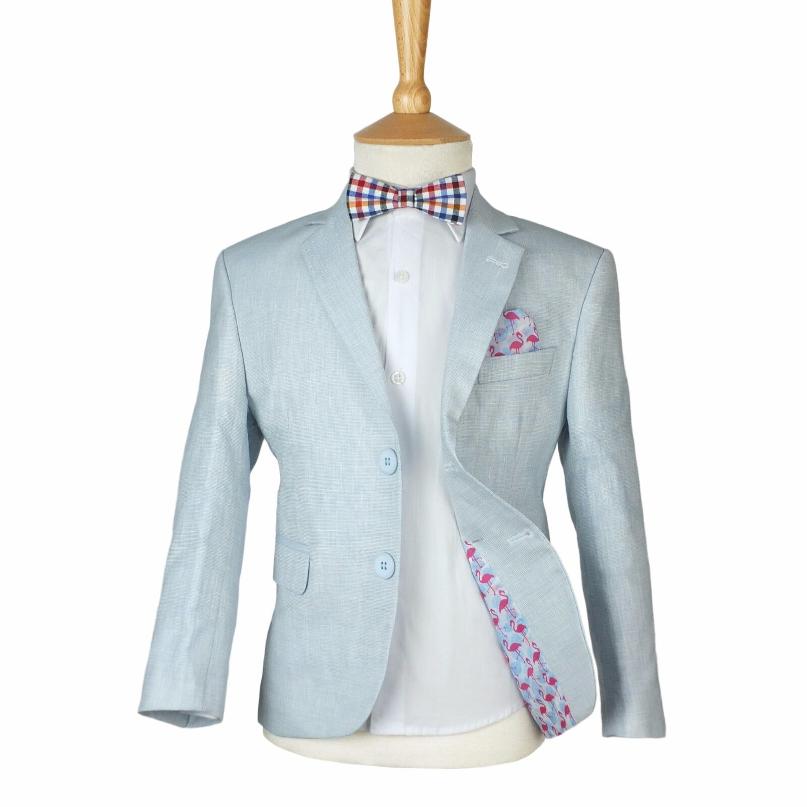 Boys Ice Blue Linen Casual Suits Page Boy Outfit Boy Formal Light ...