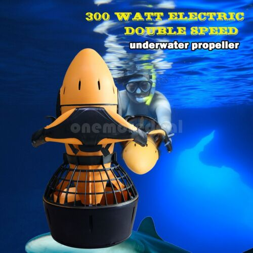 300W Electric Sea Scooter Dual Speed Underwater Propeller Diving Pool Scooter US