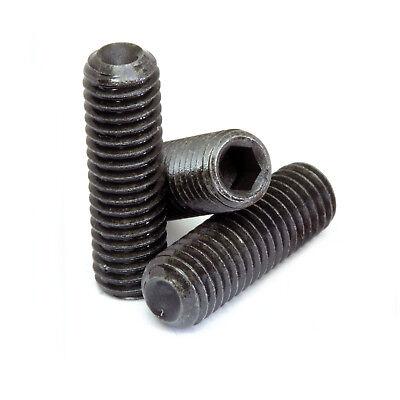 - #10-32 - Cup Point Socket Set Screws Fine SAE Alloy Steel Thermal Black Oxide