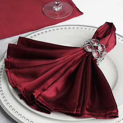 10 BURGUNDY Silky SATIN 20x20