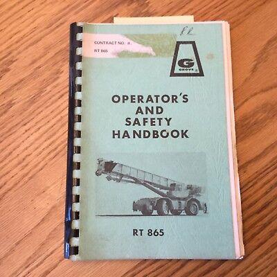 Grove Rt865 Operators Manual Rough Terrain Crane Operation Maintenance Guide