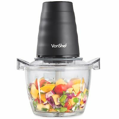 VonShef Mini Food Chopper Processor Electric Mixer Blender 200W Vegetable Onion