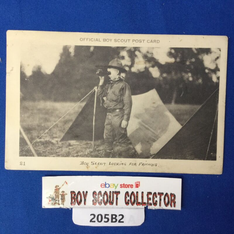 Boy Scout Looking For Friends Vintage Postcard Mailed 1915