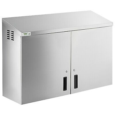 Regency 48 Stainless Steel Wall Cabinet With Hinged Doors