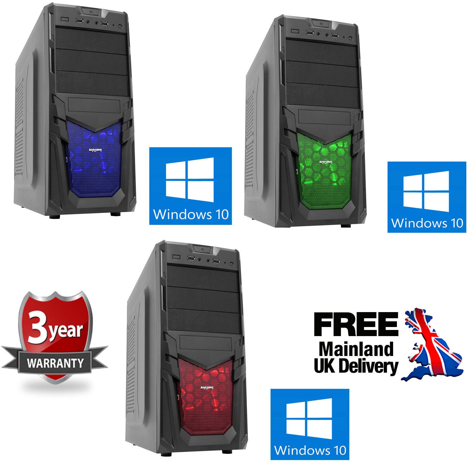 Computer Games - OCHW Fast AMD A10 Quad Core Radeon 16GB 1TB Gaming PC Computer Windows 10 Venom