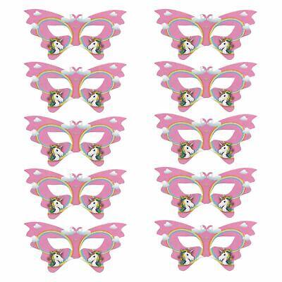 10er Pack Magic Rainbow Einhorn Karte Augen Maske Kinder Verkleidung - Verkleidung Rainbow Kostüm