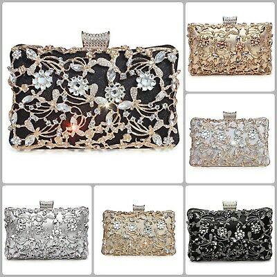 Wedding Clutch Bags For Women Party Evening Bridal Prom Envelope Purse Handbag  ()