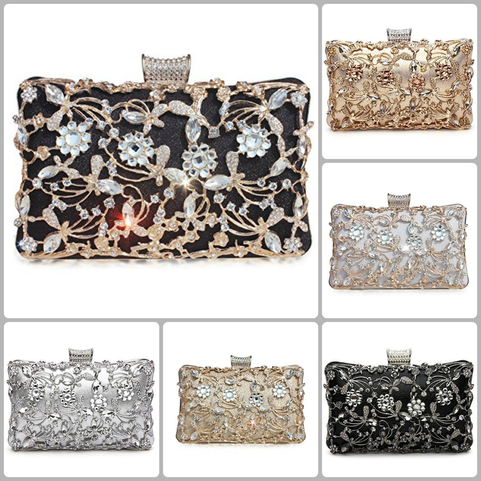 Wedding Clutch Bags For Women Party Evening Bridal Prom Enve
