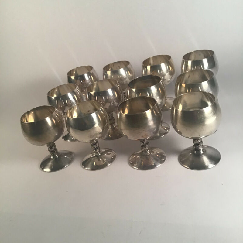 Vintage Valero EPB made in Spain Goblets Lot of 12 Grape and Vine Snifter