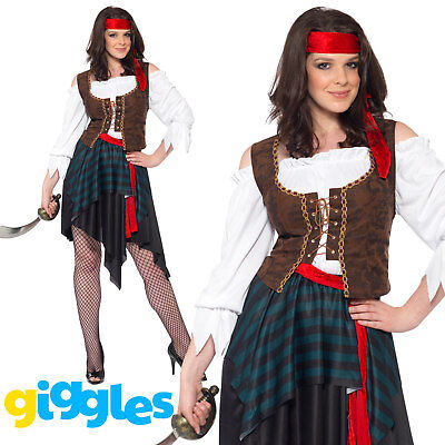 Pirate Wench Costume Womens Ladies Shipmate Captain Halloween - Womens Pirate Wench Kostüme