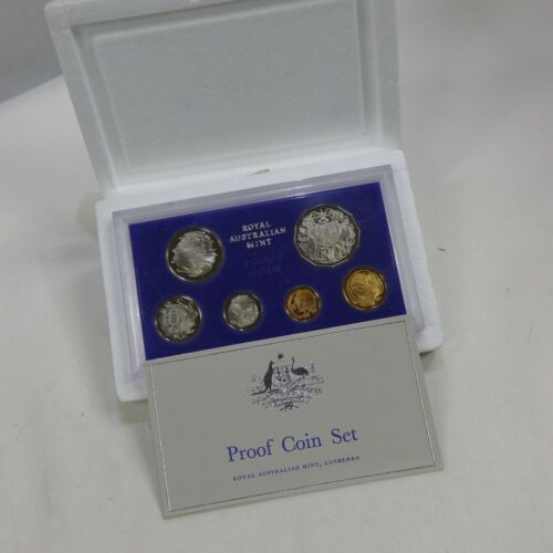 1975 AUSTRALIA - Queen Elizabeth II - (6) Coin PROOF Set OGP & COA