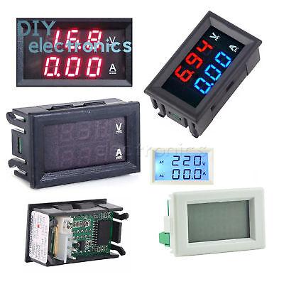 Led Dc 0-100v 5-100aac 80-300v 50a Dual Digital Voltmeter Ammeter Panel Meter