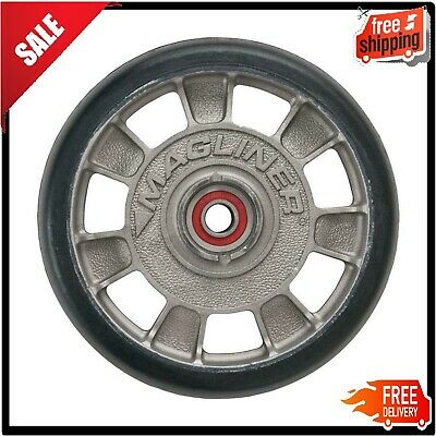 Magliner 8 In X 1-58 In Hand Truck Wheel Mold On Rubber With Sealed Semi Prec