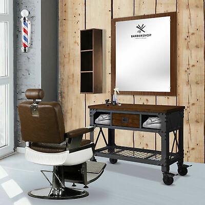 48 Metal Wood Workbench Tool Storage Steel Workshop Table Barber Station