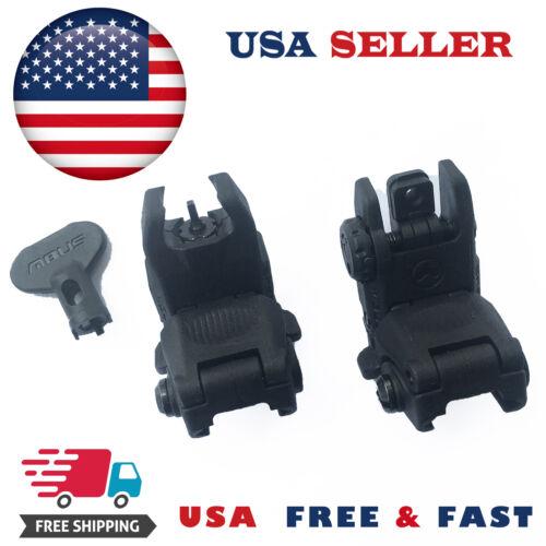 USA Shipping Magpul MAG247BLK MAG248BLK Gen2 Front and Rear Flip Sights - Black