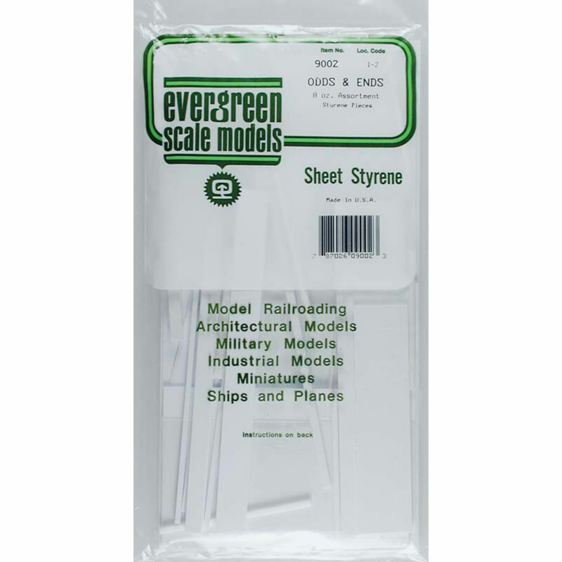 Evergreen Scale Models White Sheet Odds & Ends