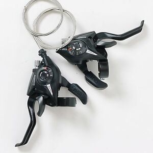 bi_more] SHIMANO ST-EF51 3x7S Shifter MTB Bike Shift/Brake Lever Set Black 2012