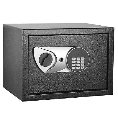 Safety Box Security Home Office Digital Lock Jewelry Black Safe Money 0.5 Cubic