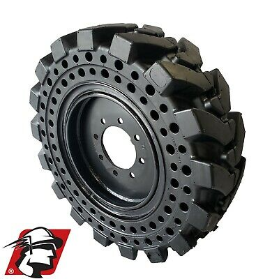 10x16.5 Maximizer Gt Solid Skid Steer Tires Flat Proof Set Of 4 With Rim
