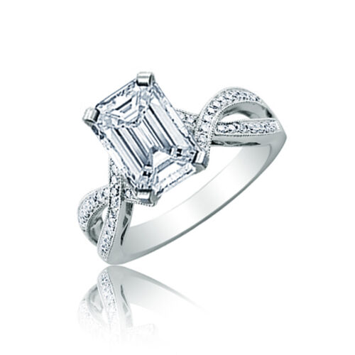 Emerald Cut 2.50 CT Platinum Diamond Engagement Ring GIA Certified