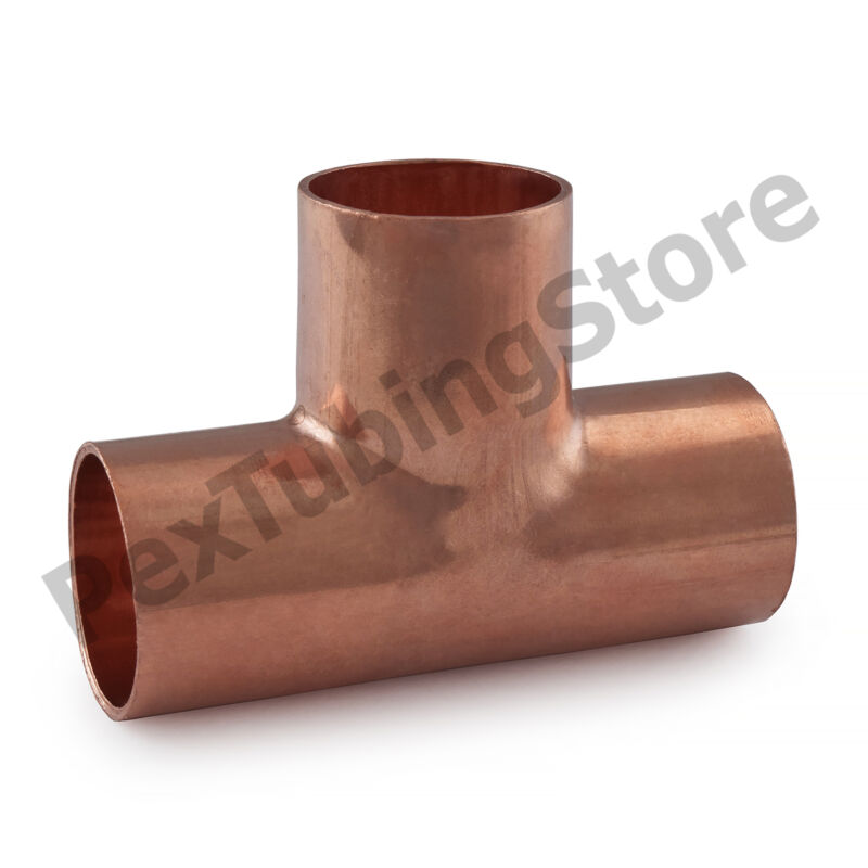 "(100) 3/4"" x 3/4"" x 3/4"" Copper Tees"