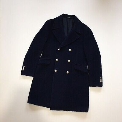Tagliatore Navy Wool Double Breasted Over Coat Size 52