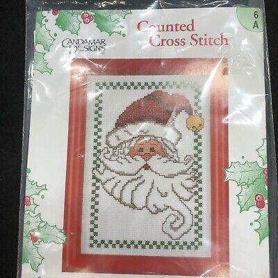Candamar Designs Counted Cross Stitch Kit Santa Checks 5