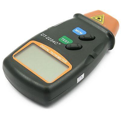 Digitaler Berührungsloser Laser Foto Tachometer Drehzahlmesser LCD RPM