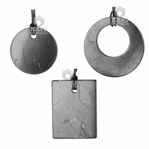 Russian Shungite Pendant 100% Natural stone from Karelian manufacture, Tolvu