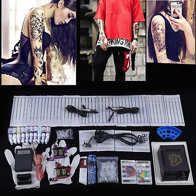 Kit completi per tatuaggi Macchinetta Tatuaggi set 2 Tattoo gun+20 Inchiostro