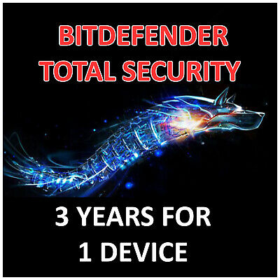 BITDEFENDER TOTAL SECURITY 2021 - 3 YEARS SINGLE DEVICE - ACTIVATION - GLOBAL