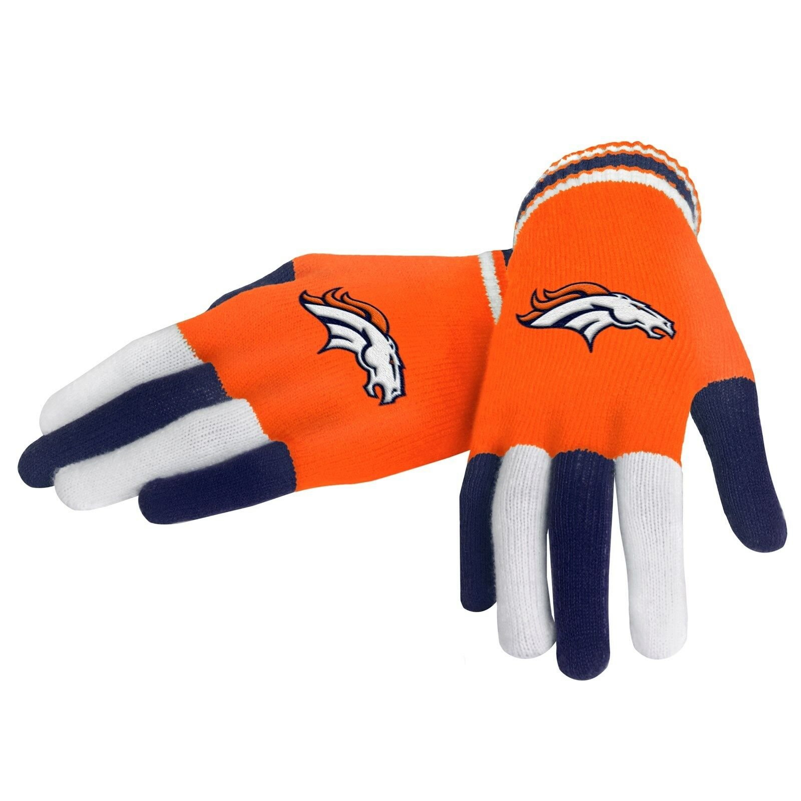 NFL Football Team Logo Multi Color Knit Gloves - Pick Your Team!