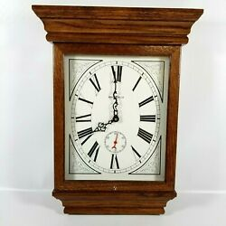 Vintage Howard Miller Wall Oak Quartz Clock 613-239 Fables Made In USA