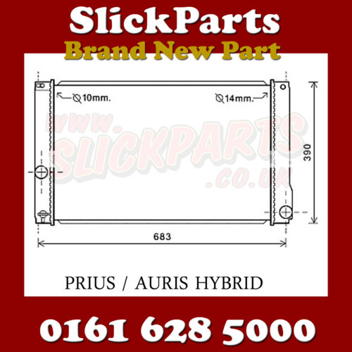 LEXUS CT 200H  RADIATOR HYBRID 2010 > ( 2ZRFXE ) *NEW*