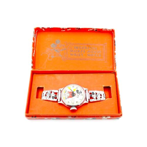 Vintage Ingersoll Mickey Mouse Watch in Original Box and Original Condition WOW