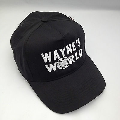 Wayne's World Embroidered Baseball Cap, Hat Retro Party Cap