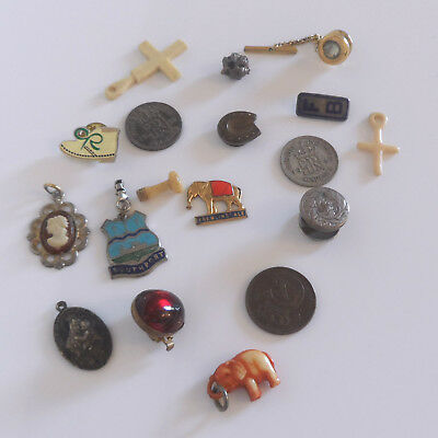MIXED Lot of VINTAGE COLLECTABLES incl COINS & JEWELLERY