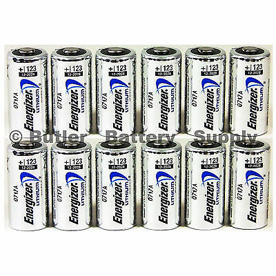 12 x CR123 Energizer 3V Lithium Batteries (CR123A, DL123, 123, EL123, CR17345)