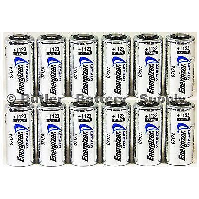 12 x cr123 3v lithium batteries cr123a