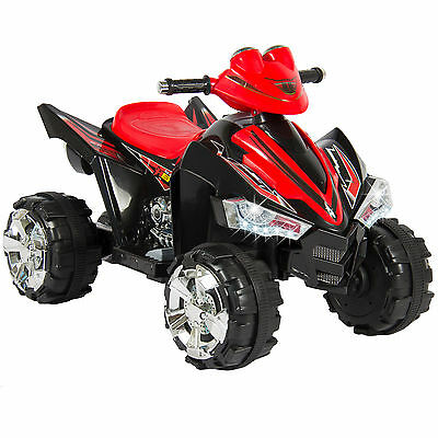 Kids Ride On ATV Quad 4 Wheeler 12V Battery Power Electric Led Lights and Music