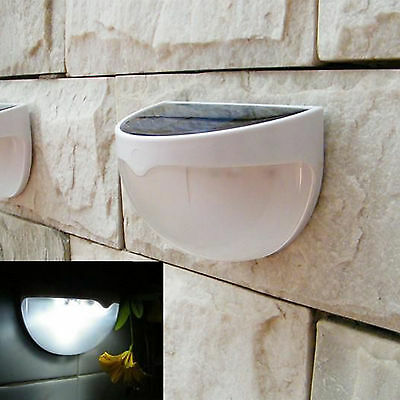 Waterproof 6 LED Solar Power Light Sensor Wall Light Outdoor Garden Fence Lamp