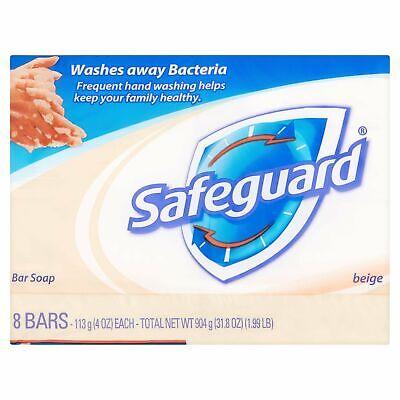 Safeguard Antibacterial Deodorant Beige Bar Soaps 4 oz Ea 8 Count