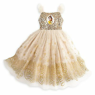 Disney Store Belle Princess Party Dress Holiday Beauty Beast Costume SOLD OUT - Party Costume Store