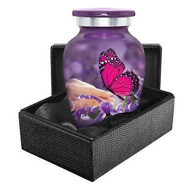 Mystic Butterfly Small Keepsake Urn for Human Ashes -Qnty 1 - With Case
