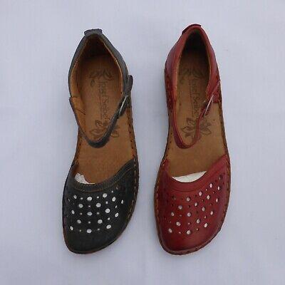 Josef Seibel Ladies Leather Sandal Red or Blue Style- Rosalie 19