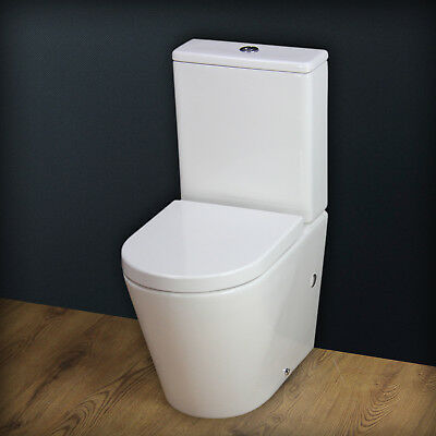 Toilet WC Heavy Duty Seat Close Coupled Compact Cloakroom Short Projection T4SS