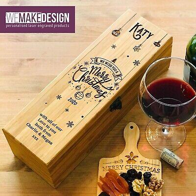 Personalizado Bambú Vino Caja Con 4 Accesorios Mejor Regalo Navidad